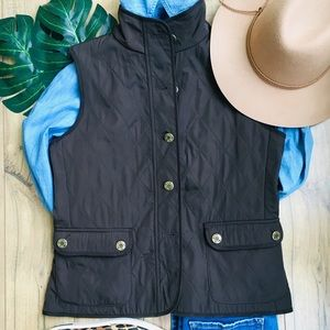 Quilted Brown Vest